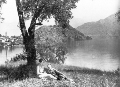'The Pleasure Garden' 1925 - looking out to Isola Comacina