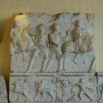 Marble celebratory relief