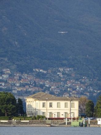 sea plane over villa geno