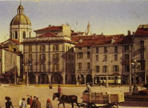 Piazza Cavour looking south 1914