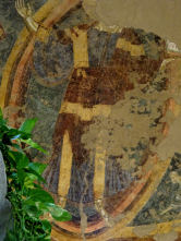 Basilica - Warrior Jesus, 11th century fresco