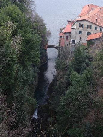 Ponte della Civera medieval bridge Nesso Lake Como