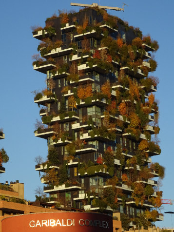 Green high rise accomodation Porta Nuova Milan