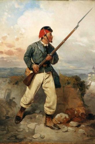 Trezzini sergeant in the cacciatori degli apli