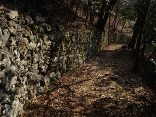 Path from Brunate via Falchetto - stone and cobble