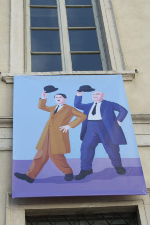 Hitler and Mussolini in Street Art