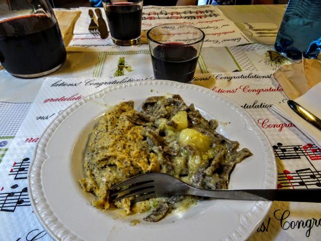 Pizzoccheri and polenta