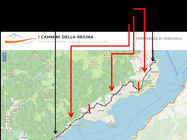 Via Regina Map 1