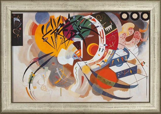Courb dominante by Wassily Kandinsky, 1936