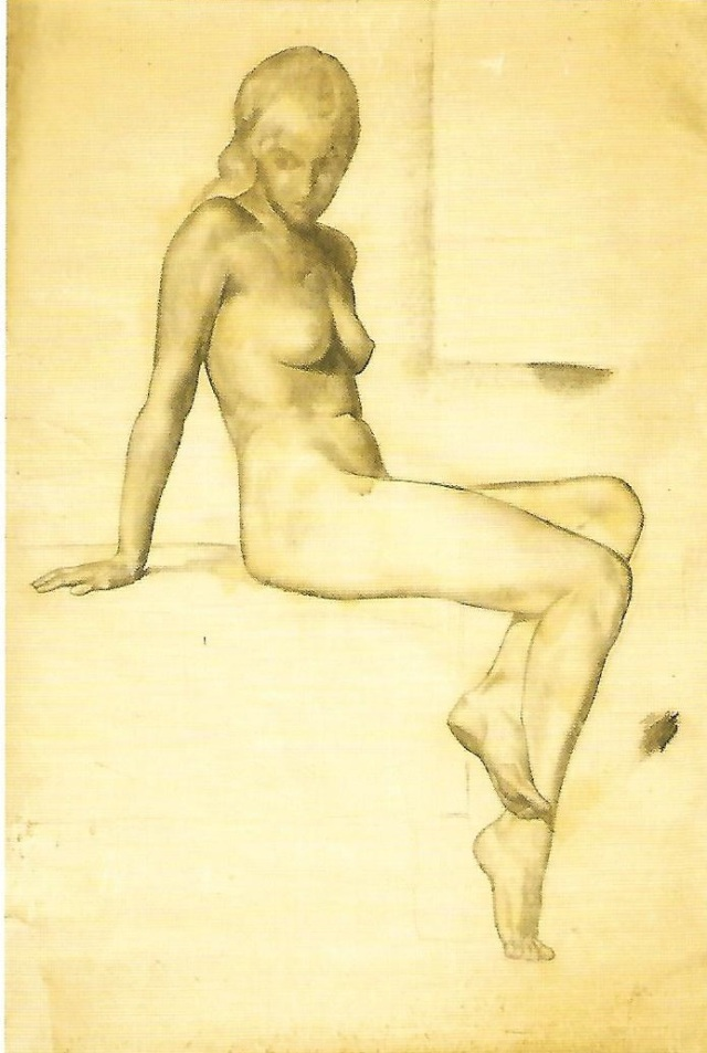 Female Nude by Manlio Rho, 1932
