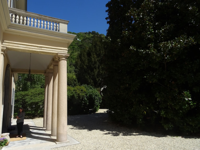 Portico and park