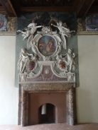 Fireplace with the Odescalchi crest