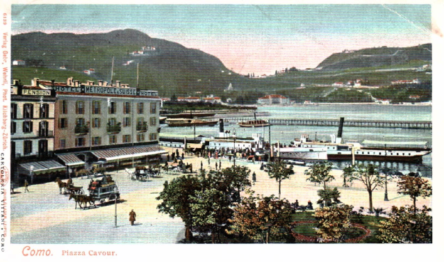 Piazza Cavour 1900s with Metropole Suisse