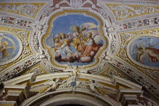 Detail stucco and fresco Sanctuary