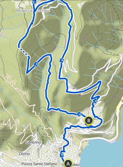 Climbing Monte Bisbino