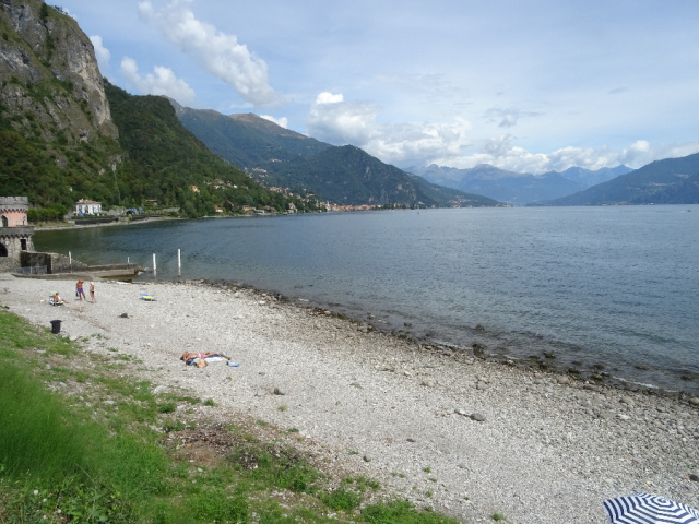 Beach at Griante