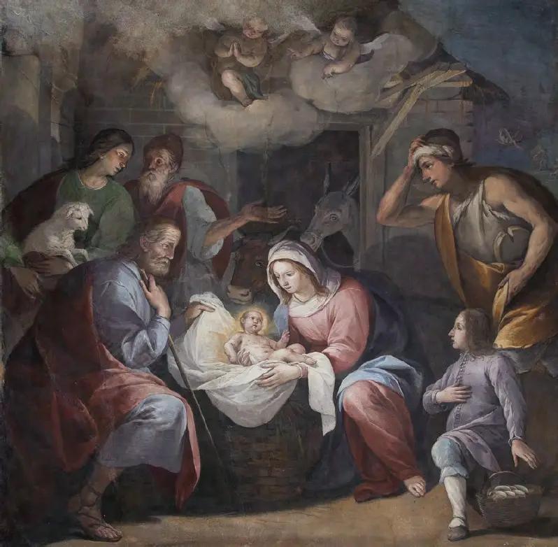 Giovanni Paolo Recchi Birth of Jesus Coldrerio