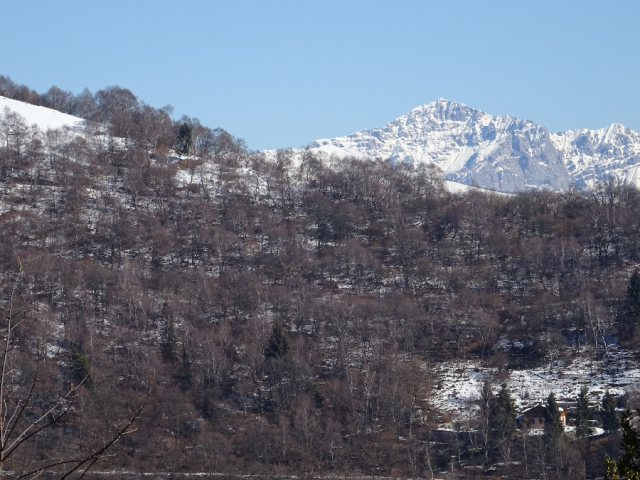 On Mount Bisbino in Winter