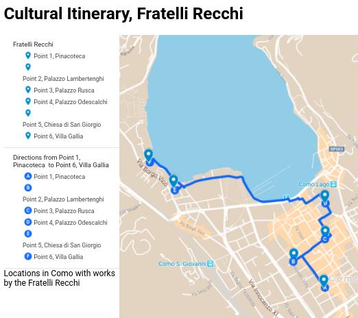 cultural itinerary fratelli recchi