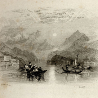The print published in Samuel Rogers' poetry collection entitled 'Italy'