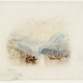 One of Turner's watercolour landscapes of Lake Como