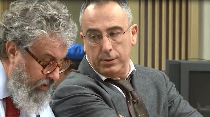 Brivio with defense lawyer Aldo Turconi